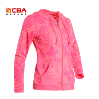 【618狂嗨继续】CBA女子运动卫衣正品春季女款舒适透气开衫连帽外套女士运动上衣