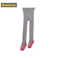 巴拉巴拉童装女童棉儿童袜子秋装2017新款高腰袜宝宝长筒袜一双装