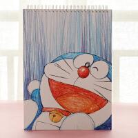 【跨店买3免1】韩国文具批发 可爱卡通素描本 学生创意绘画本子 diy涂鸦本速写本