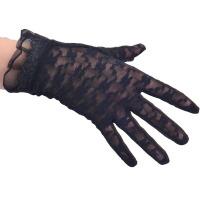 女士开车防滑手套春夏季防晒手套蕾丝短款薄手套