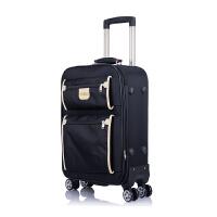 商务拉杆箱万向轮男20寸帆布登机旅行箱女24寸双袋行李箱密码软箱