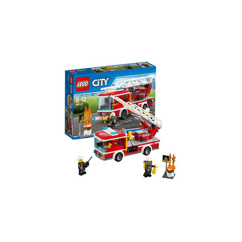 乐高玩具积木 消防车云梯lego city 积木玩具城市系列60107