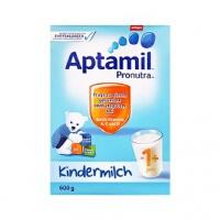 德国Aptamil爱他美婴幼儿配方奶粉1+段(12-24个月宝宝 600g)1盒装 外观轻微破损或变形 日期新鲜