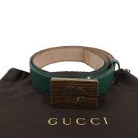 GUCCI绿色咖啡色头做旧款腰带