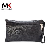 莫尔克(MERKEL) 2017新款女手包石头纹时尚休闲零钱包手拿包手机包手腕包
