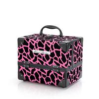 旅行美甲工具箱 中号手提美容化妆盒 多层折叠纹绣化妆箱