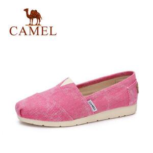 camel骆驼女鞋 春夏新款 韩版时尚帆布鞋 时尚休闲单鞋女
