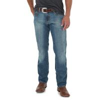 Wrangler/威格牛仔裤男美国直邮正品男士新款蓝色拉链直筒牛仔裤88MWZRT