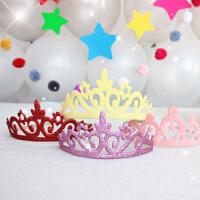 孩派 儿童派对生日帽子 韩版数字帽 皇冠发箍发扣帽 派对装扮用品
