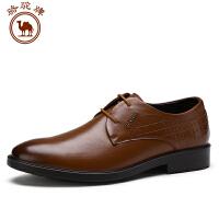 骆驼牌男鞋 秋季新款男士商务正装皮鞋 时尚系带