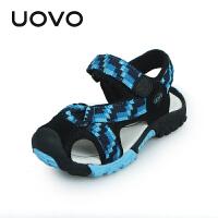 UOVO2017夏季包头男童凉鞋新款儿童沙滩鞋镂空中小童宝宝凉鞋韩版童鞋 玛瑙斯