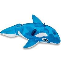 INTEX透明蓝鲸座骑58523 儿童戏水玩具 坐骑 充气玩具