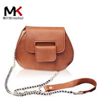 莫尔克(MERKEL)女包2017新款链条包小包包手机包贝壳包单肩斜挎包女韩版复古迷你包