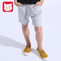 小猪班纳童装男童短裤儿童裤子中裤2017夏季新款男孩五分裤运动裤