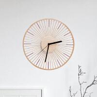 【竹时挂钟】原创设计 竹制创意简约静音 时钟 实木原木