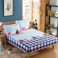 纯棉床笠单件加厚夹棉防滑床套床罩席梦思床垫保护套全棉1.2/1.5/1.8m