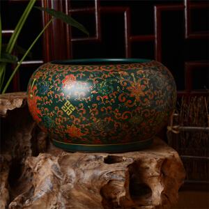 仿粉彩茶洗钵
