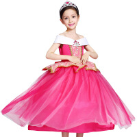 儿童睡美人爱洛公主裙礼服冰雪奇缘女童连衣裙蓬蓬裙子表演演出服