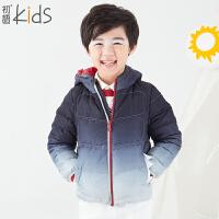 初语童装 新款 男童羽绒服 卡通加厚羽绒服外套 T5309320021