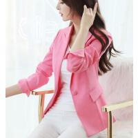 小西装女 外套 新款韩版修身小西装外套女显瘦休闲大码长袖西服上衣潮