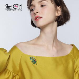 She'sGirl茜子 欧美时尚绿棕榈叶胸针胸扣 首饰流行饰品