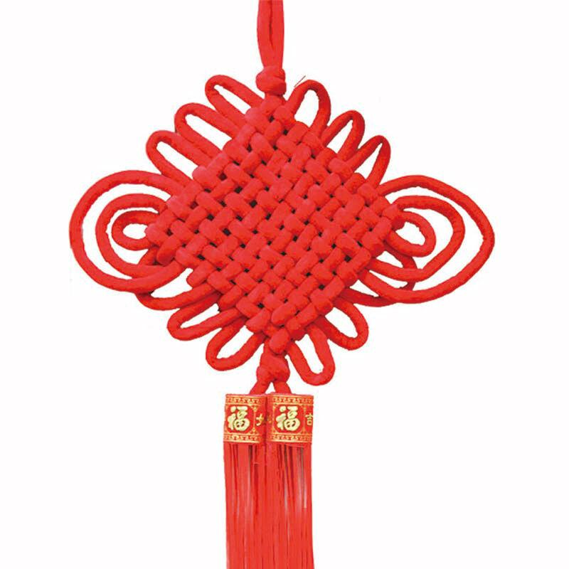 安若素 中国结挂件 绒布流苏家居装饰品 挂件 过年春节装饰挂件 送