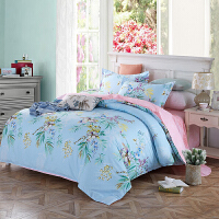 当当优品家纺 纯棉斜纹印花床品 双人床单四件套 芳香