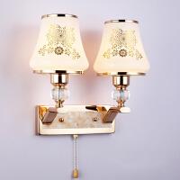 御目 壁灯 金色水晶LED创意宜家过道楼梯高品质现代简约卧室书房床头灯 创意灯具