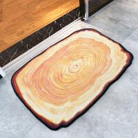 御目 地垫 创意年轮可机洗地垫门垫吸水浴室防滑垫子地毯卧室房间家用脚垫椅子垫子家居用品装饰品