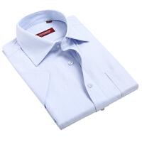 优鲨U-SHARK 男装 夏装新款男士柔软领型人字纹佐蒙短袖衬衫