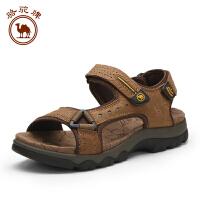 骆驼牌 夏季新款男士休闲凉鞋 男款透气厚底魔术贴舒适鞋
