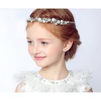韩版精美头饰花童钻饰儿童配饰白色花朵珍珠发簪女童头饰