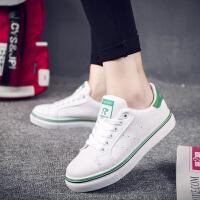 2017休闲鞋子韩版低帮跑步鞋女式休闲板鞋学生透气小白鞋运动鞋女