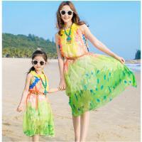 雪纺连衣裙度假波西米亚长裙款沙滩裙亲子装海边母女装夏装可礼品卡支付