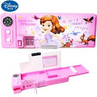 迪士尼苏菲亚公主儿童多功能文具盒小学生女创意塑料笔盒铅笔盒83013-S