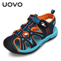 UOVO2017夏季新款儿童凉鞋男童夏季透气 中大童包脚沙滩鞋防滑软底运动鞋 歌瑞尔