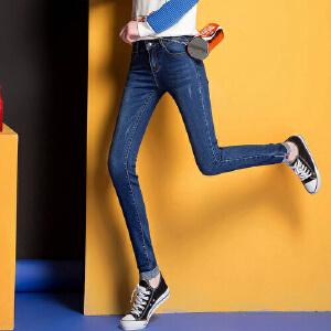 2007春夏秋季女式新款牛仔裤弹力小脚铅笔裤百搭潮流时尚WM1707