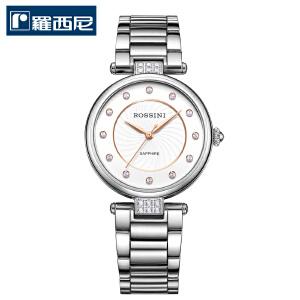 2017春夏新品罗西尼手表钢带手表女正品时尚防水时装石英表616764