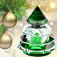 汽车香水座 圣诞平安树水晶圣诞树家居摆件装饰品 车载香水创意车用香水座内饰用品