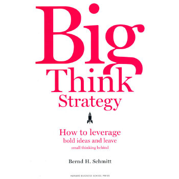 Big Think Strategy: How to Leverage Bold Ideas and Leave Small Thinking Behind小思维大策略