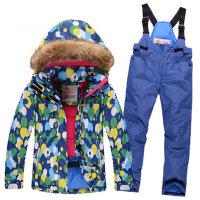 滑雪服儿童套装儿童滑雪服 男女童防风透气