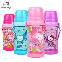 hello kitty创意儿童随手塑料水杯可爱男女学生便携带盖水瓶杯子
