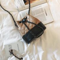 芭特莉【全店支持礼品卡】包包女小水桶菱格欧美时尚单肩包百搭撞色气质简约潮女士斜挎包