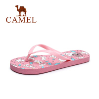 Camel/骆驼女鞋 夏季新款甜美可爱人字拖女沙滩防滑平跟拖鞋