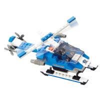 小鲁班拼装城市 创意玩具巡逻飞机模型6岁以上男孩益智拼装玩具车