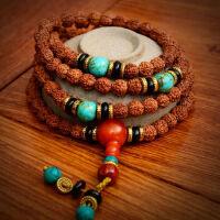 尼泊尔五瓣金刚菩提108颗菩提项链肉纹佛珠手链手串藏式