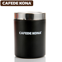 CAFEDE KONA撒粉器 不锈钢撒粉筒罐精细网纱式桶可可粉 咖啡粉具 黑色CK8995