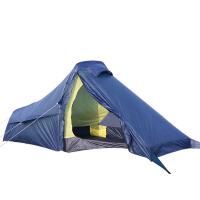 帐篷户外单人登山露营双层防雨野外铝杆帐篷套装