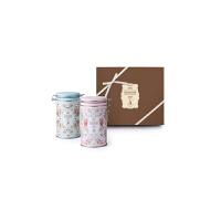 【年货】诗特莉春霓密封双罐组250g*2 台湾进口牛奶巧克力燕麦手工喜饼饼干休闲零食品