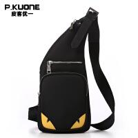 皮客优一P.kuone男士胸包腰包休闲便携单肩包尼龙防水户外运动包P750668